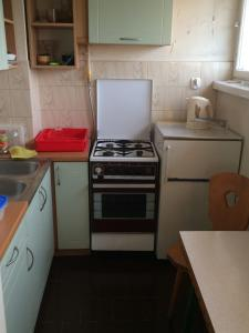 A kitchen or kitchenette at Tower View Studio Centrum