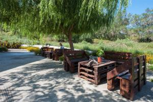 A patio or other outdoor area at Dimitra Studios