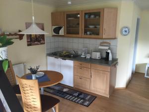 Küche/Küchenzeile in der Unterkunft Partzsch Apartment