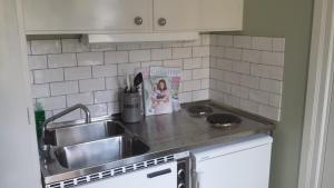 O bucătărie sau chicinetă la Lilla Munkhagen