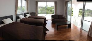 The lounge or bar area at Seaside House Nirai