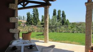 A patio or other outdoor area at Tiria Is Molas