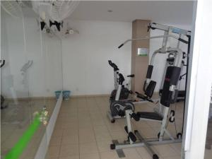 The fitness center and/or fitness facilities at Serra Park Flat Service Thermas Adm