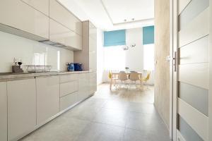 Virtuvė arba virtuvėlė apgyvendinimo įstaigoje Central Krak Apartments