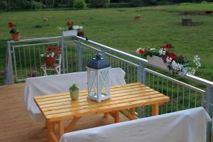 Ein Balkon oder eine Terrasse in der Unterkunft Fährhaus Gruna