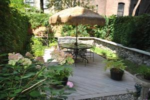 A patio or other outdoor area at Home NYC