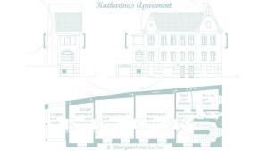 Grundriss der Unterkunft Katharinas Apartment