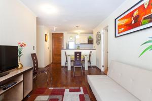Zona de estar de Santiago Downtown Cozy Apartments 3