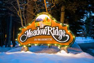 Meadow Ridge Condos by Mammoth Slopes Lodging during the winter
