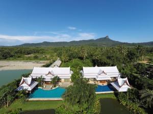 Vaade majutusasutusele Villa Saifon AoNang Krabi linnulennult