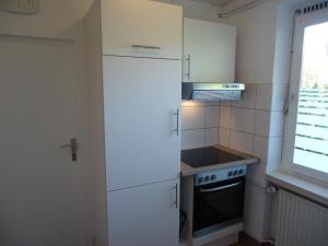 Küche/Küchenzeile in der Unterkunft Haus am Burgberg