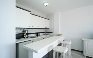 A kitchen or kitchenette at Apartamentos Turisticos Rio Marinas