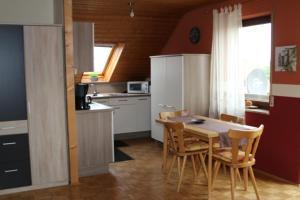 Küche/Küchenzeile in der Unterkunft Ferienwohnung Anne