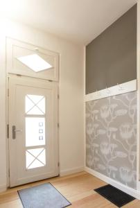 Ein Etagenbett oder Etagenbetten in einem Zimmer der Unterkunft quartier kiel