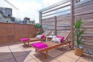 A porch or other outdoor area at Apartment Barcelona Rentals - Gracia Pool Apartments Center