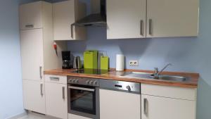 Küche/Küchenzeile in der Unterkunft Ferienapartment Schlosser