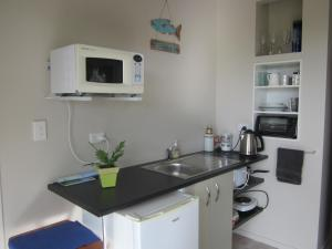 A kitchen or kitchenette at Pacific Sunrise Apartment