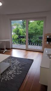 Ein Sitzbereich in der Unterkunft Holiday Apartment Schamne