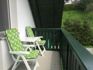 Balkón nebo terasa v ubytování Apartments Alpha Center