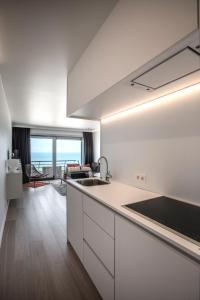Een keuken of kitchenette bij Studio Zeezicht