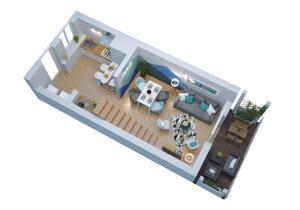 The floor plan of Duplex Saint Jean - SuperBordeaux