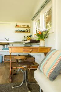 A seating area at Haumoana Herb Cottage