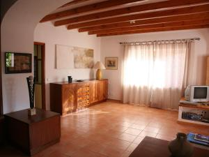 The lobby or reception area at Spacious Holiday Home in St Josep de sa Talaia with Pool