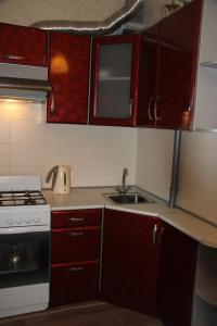 A kitchen or kitchenette at Apartment on Nevskogo Street 16