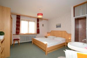 Ліжко або ліжка в номері Ferienwohnung im Gästehaus Nussbaumer