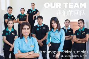 Staff members at Amatapura Beachfront Villa 14