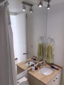 A bathroom at Complejo Papudo Laguna - Torre Cormorán Piso 8.