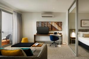 A seating area at Quest Port Adelaide