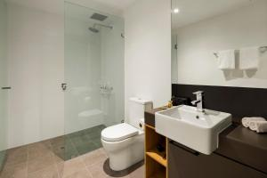A bathroom at Quest Port Adelaide