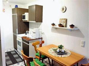 Küche/Küchenzeile in der Unterkunft Ferienwohnung Sievers
