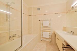 Ein Badezimmer in der Unterkunft Appartementhaus Alpenpark