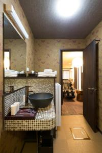 A bathroom at Kyotoya Tsuki no Yu Bettei