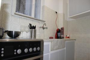 A kitchen or kitchenette at Acropolis Backyard Apartment