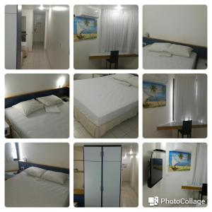 A bed or beds in a room at Apto 219 Victory Flat em Tambaú