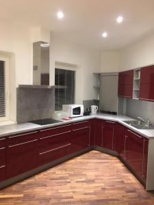 Küche/Küchenzeile in der Unterkunft Appartement Feinsinn