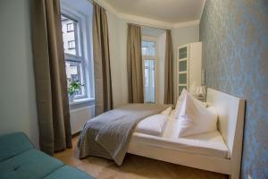 Ein Bett oder Betten in einem Zimmer der Unterkunft Ruterra Apt with Sauna and Billiards