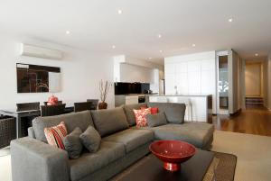 A seating area at C-Scape Apartment 1