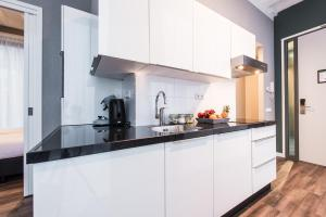 Cuisine ou kitchenette dans l'établissement NDSM Serviced Apartments
