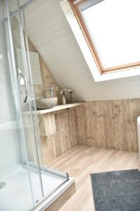 Een badkamer bij Hof Ter Meulen