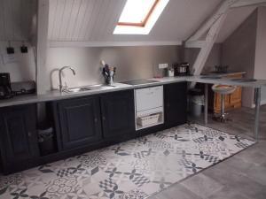 A kitchen or kitchenette at Gite de la Haute Ville