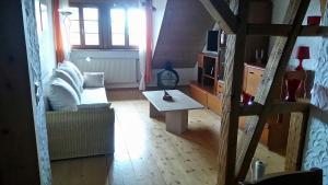 Ein Sitzbereich in der Unterkunft Schweizerblick