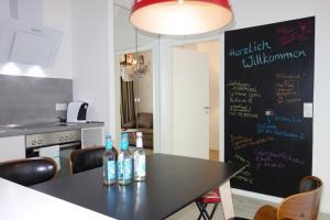 Küche/Küchenzeile in der Unterkunft Apartment Steuerbord Ottensen