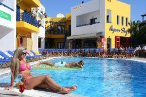 The swimming pool at or near Aegean Sky Hotel-Suites