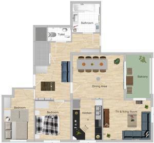 The floor plan of Flat UNO City