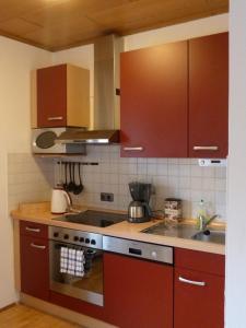 Küche/Küchenzeile in der Unterkunft Ferienwohnung Tegernheim