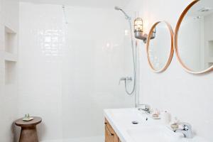 A bathroom at 105 Suites